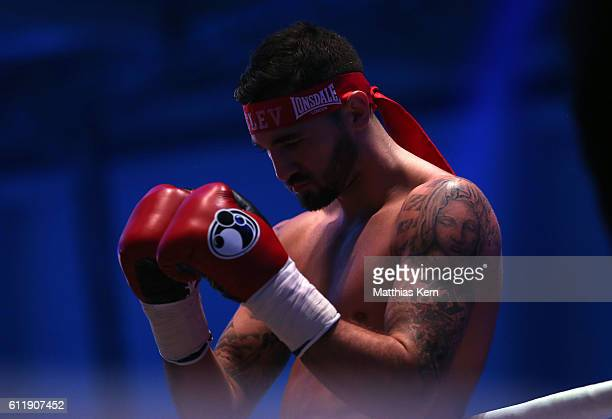 Nathan Cleverly looks on prior to the WBA light heavyweight world championship title fight between Juergen Braehmer of Germany and Nathan Cleverly of...
