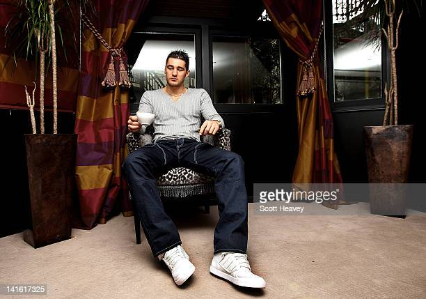Nathan Cleverly takes a break from a press conference to promote his upcoming Light Heaveyweight bout with Robin Krasniqi taking place at The Royal...