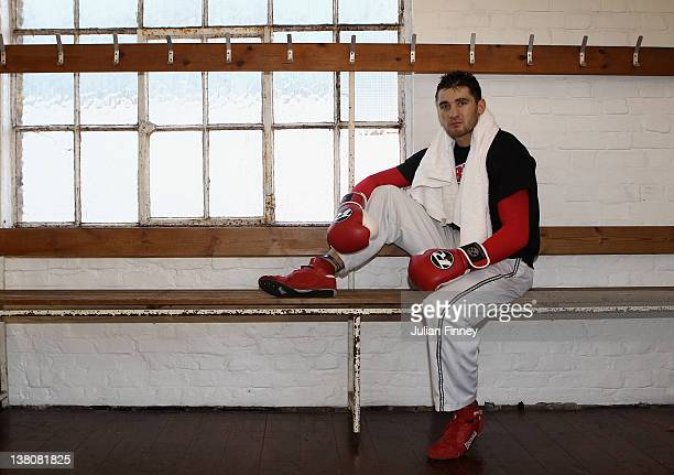 Nathan Cleverly, the WBO World Light-Heavyweight Champion poses for a photo at the Peacock Gym as he prepares for his third title defence against...