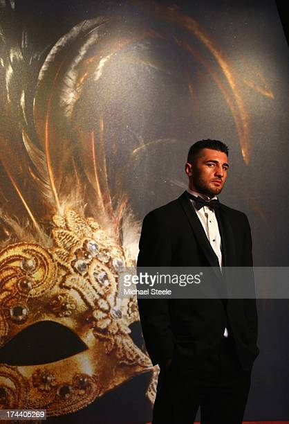 Nathan Cleverly the WBO World Light-Heavyweight title poses for a portrait ahead of his forthcoming fight against Sergey Kovalev of Russia at the...