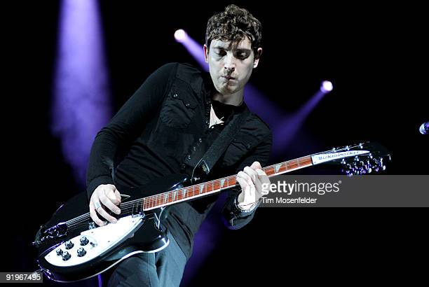 Nathan Connolly of Snow Patrol performs in support of the bands' A Hundred Million Suns release at the Fox Theater on October 16 2009 in Oakland...