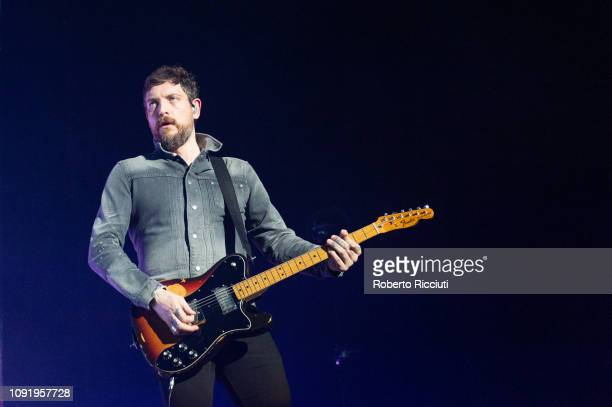 Nathan Connolly of Snow Patrol performs on stage at The SSE Hydro on January 31 2019 in Glasgow Scotland