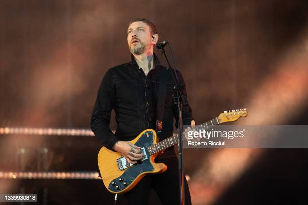 Nathan Connolly of Snow Patrol performs on the Main Stage on the third day of TRNSMT Festival 2021 on September 12, 2021 in Glasgow, Scotland.