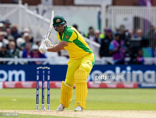 Nathan CoulterNile of Australia batting during the Group Stage match of the ICC Cricket World Cup 2019 between Australia and West Indies at Trent...