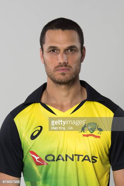 Nathan CoulterNile poses during the Australia Twenty20 Team Headshots Session at Intercontinental Double Bay on October 15 2017 in Sydney Australia