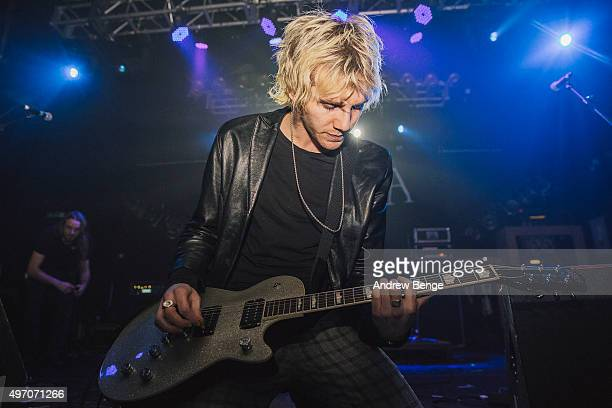 Nathan Day of Darlia performs on stage at Electric Ballroom on November 13 2015 in London England
