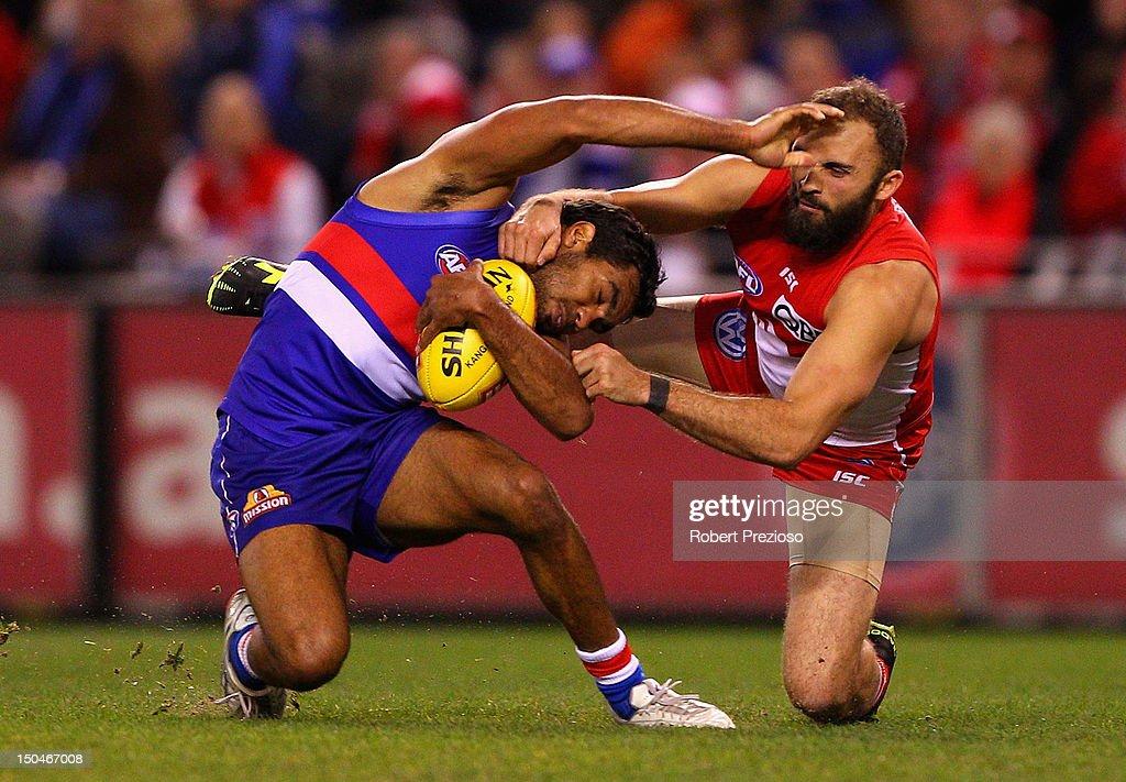 AFL Rd 21 - Western Bulldogs v Sydney Swans