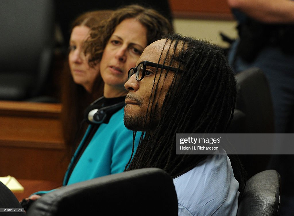 Nathan Dunlap, siting next to one of his lawyers Madeline