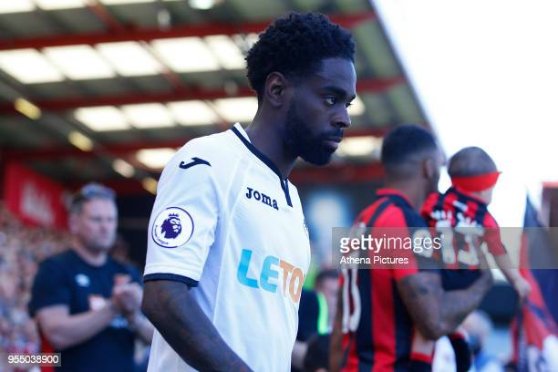 Nathan Dyer of Swansea City prior to kick off of the Premier League match between AFC Bournemouth and Swansea City at Vitality Stadium on May 5 2018...