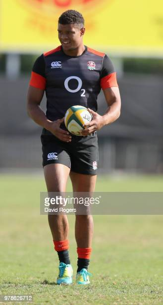 Nathan Earle looks on during the England training session held at Kings Park on June 19, 2018 in Durban, South Africa.