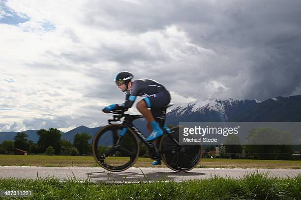 Nathan Earle of Australia and Team Sky during the 557km Prologue stage of the Tour de Romandie on April 29 2014 in Ascona Switzerland