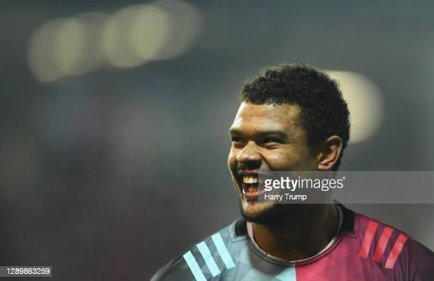 Nathan Earle of Harlequins looks on during the Gallagher Premiership Rugby match between Gloucester and Harlequins at Kingsholm Stadium on December...