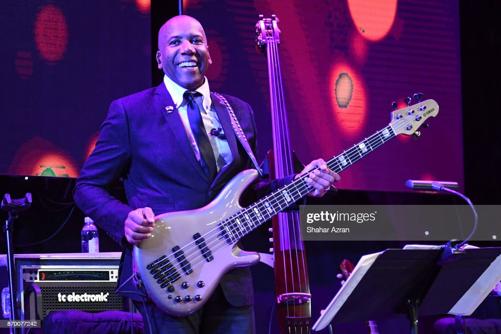 Nathan East at the FIDF Western Region Gala at The Beverly Hilton Hotel on November 2, 2017 in Beverly Hills, California.