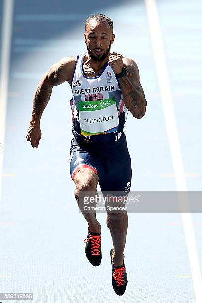 Nathan Ellington of Great Britain competes in the Men's 100m Round 1 on Day 8 of the Rio 2016 Olympic Games at the Olympic Stadium on August 13, 2016...