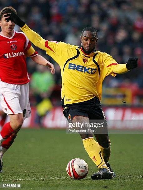 Nathan Ellington of Watford in action during the CocaCola Championship match between Charlton Athletic and Watford played at The Valley on February...