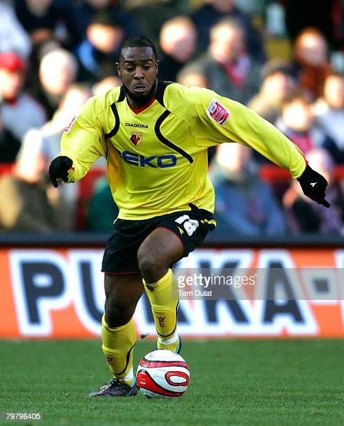 Nathan Ellington of Watford runs with the ball during the Coca-Cola Championship match between Charlton Athletic and Watford, played at The Valley on...
