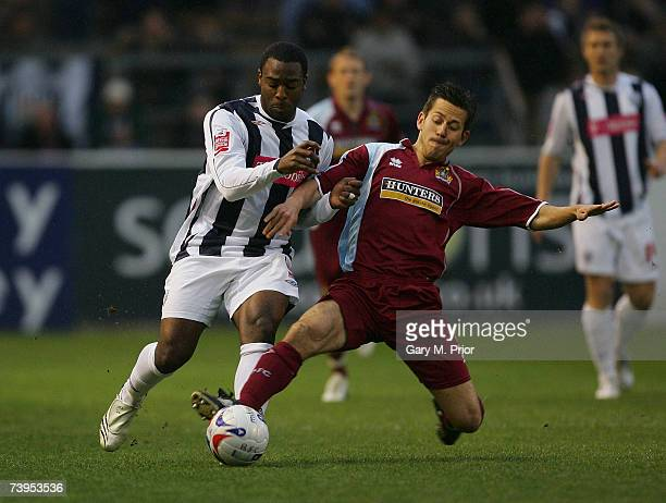 Nathan Ellington of West Bromwich Albion and Jon Harley of Burnley in action during the Coca Cola Championship match between Burnley and West...
