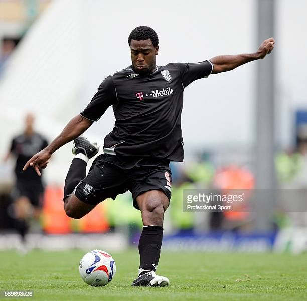 Nathan Ellington of West Bromwich Albion in action against Birmigham City during their FA Premier League match at St Andrews in Birmingham on October...
