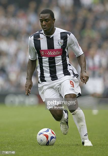 Nathan Ellington of West Bromwich Albion in action during the CocaCola Championship match between West Bromwich Albion and Southend United at The...