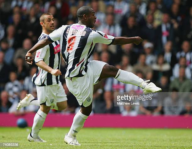 Nathan Ellington of West Bromwich Albion scores his second goal during the CocaCola Championship match between West Bromwich Albion and Barnsley at...