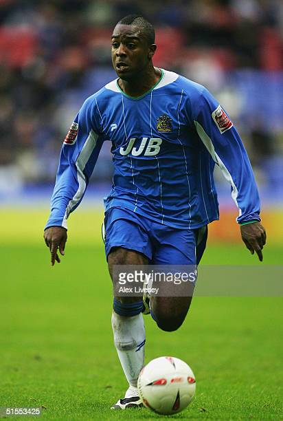 Nathan Ellington of Wigan Athletic during the Coca Cola Championship match between Wigan Athletic and Coventry City at the JJB Stadium on October 23...