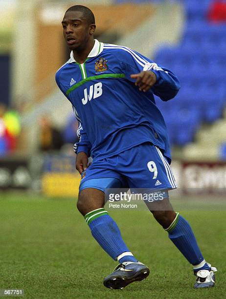 Nathan Ellington of Wigan Athletic in action during the Nationwide League Division Two match between Wigan Athletic and Northampton Town played at...