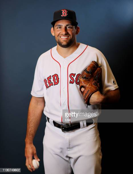 Nathan Eovaldi of the Boston Red Sox poses for a portrait during Boston Red Sox Photo Day at JetBlue Park at Fenway South on February 19 2019 in Fort...