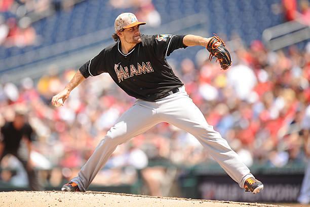 Nathan Eovaldi of the Miami Marlins