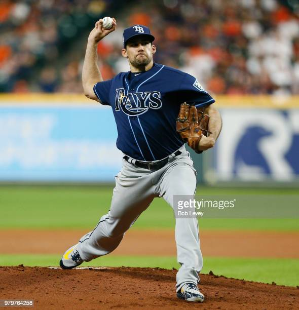 Ken Giles of the Houston Astros pitches in the ninth inning against the Tampa Bay Rays at Minute Maid Park on June 20 2018 in Houston Texas
