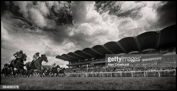 Nathan Evans riding Hoof It win The Qatar Stewards' Sprint Stakes at Goodwood on July 30 2016 in Chichester England