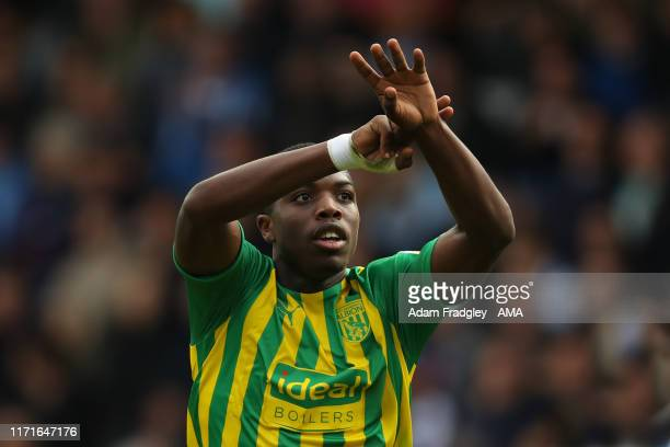 Nathan Ferguson of West Bromwich Albion celebrates after scoring a goal to make it 0-1 during the Sky Bet Championship match between Queens Park...