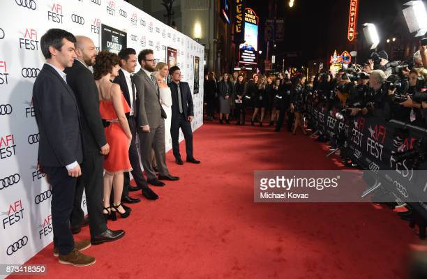 Nathan Fielder Paul Scheer Alison Brie Dave Franco James Franco Seth Rogen Jacki Weaver Ari Graynor and Josh Hutcherson attend the screening of 'The...
