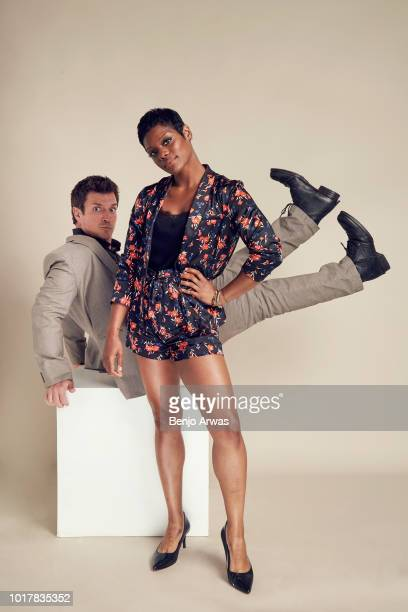 Nathan Fillion and Afton Williamson of ABC's 'The Rookie' pose for a portrait during the 2018 Summer Television Critics Association Press Tour at The...