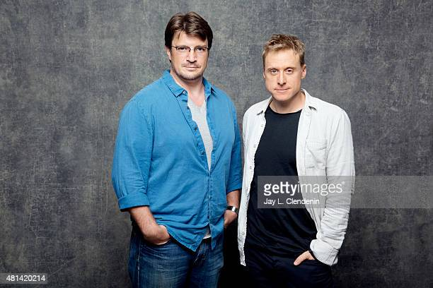 Nathan Fillion and Alan Tudyk of 'Con Man' pose for a portrait at ComicCon International 2015 for Los Angeles Times on July 9 2015 in San Diego...