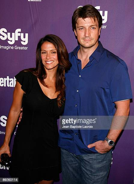 Nathan Fillion and Darla Delgado attend Entertainment Weekly's Syfy Party during Comic-Con 2009 held at Hotel Solamar on July 25, 2009 in San Diego,...