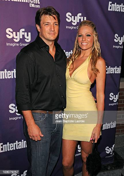 Nathan Fillion and guest attends the EW and SyFy party during Comic-Con 2010 at Hotel Solamar on July 24, 2010 in San Diego, California.