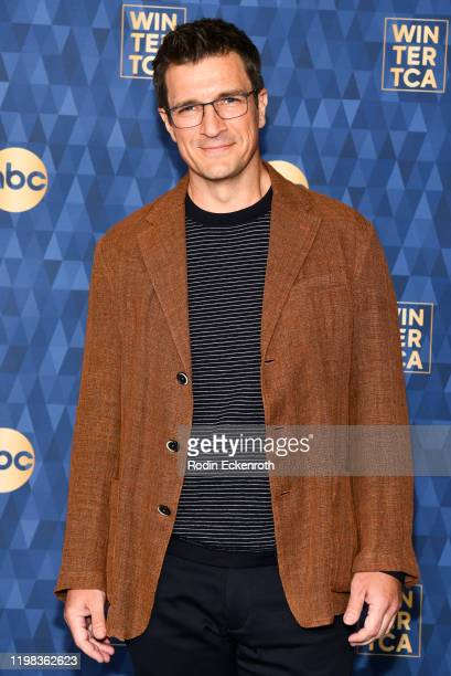 Nathan Fillion attends the ABC Television's Winter Press Tour 2020 at The Langham Huntington Pasadena on January 08 2020 in Pasadena California