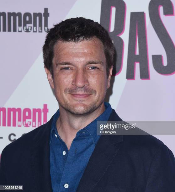 Nathan Fillion attends the annual Entertainment Weekly ComicCon Celebration at Float at Hard Rock Hotel San Diego on July 21 2018 in San Diego...