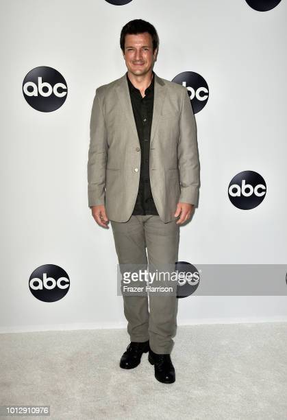 Nathan Fillion attends the Disney ABC Television TCA Summer Press Tour at The Beverly Hilton Hotel on August 7 2018 in Beverly Hills California