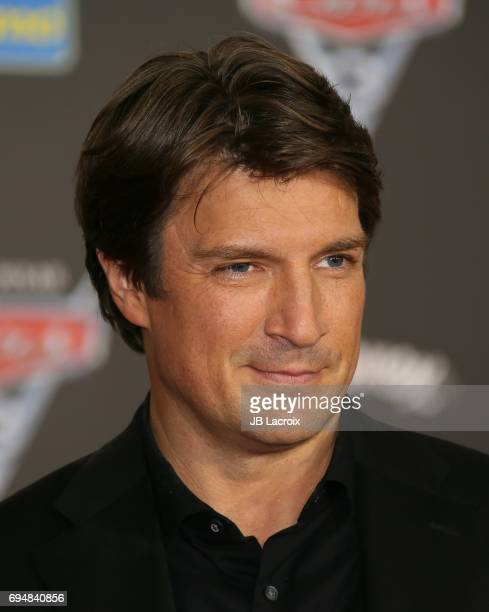 Nathan Fillion attends the premiere of Disney and Pixar's 'Cars 3' on June 10 2017 in Anaheim California