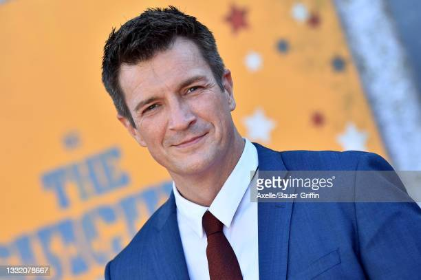 """Nathan Fillion attends Warner Bros. Premiere of """"The Suicide Squad"""" at The Landmark Westwood on August 02, 2021 in Los Angeles, California."""
