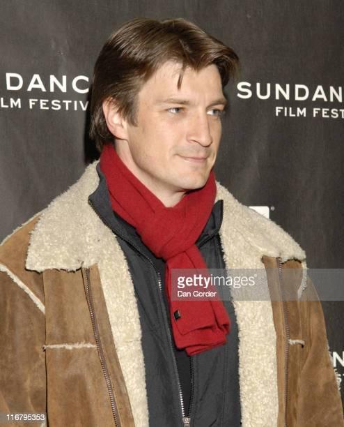 Nathan Fillion during 2007 Sundance Film Festival 'Waitress' Premiere at Eccles in Park City Utah United States