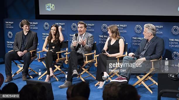 Nathan Fillion Laura Vandervoot Nolan North Alison Haislip and PJ Haarsma attend Winter Series Showcase Of ComicCon HQ Premiere Of 'Con Man' Season 2...