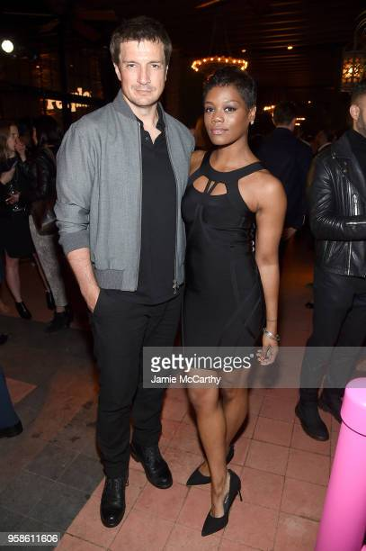 Nathan Fillion of The Rookie and Afton Williamson of Shades of Blue attend Entertainment Weekly PEOPLE New York Upfronts celebration at The Bowery...