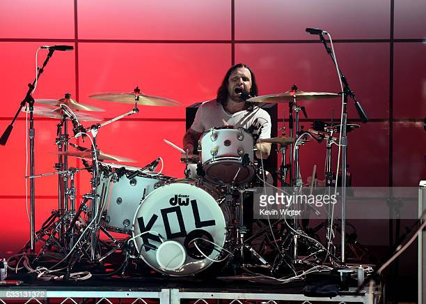 Nathan Followil of Kings Of Leon performs on stage on ATT at iHeartRadio Theater LA on January 30 2017 in Burbank California