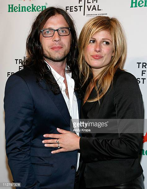 Nathan Followill and Jessie Baylin attend the Tribeca Film Festival afterparty for Talihina Sky hosted by Heineken at Marquee on April 21 2011 in New...