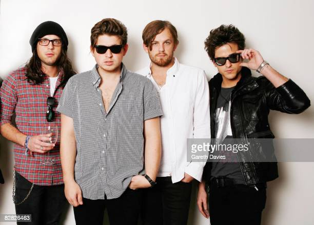 Nathan Followill Matthew Followill Caleb Followill and Jared Followill the band members of Kings of Leon pose for a portrait session at the Soho...