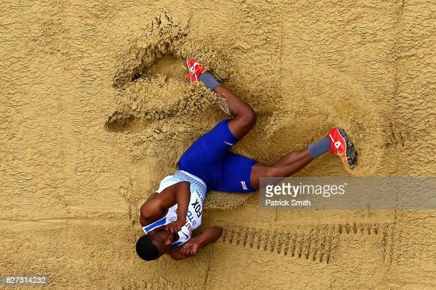 Nathan Fox of Great Britain competes in the Men's Triple Jump qualification during day four of the 16th IAAF World Athletics Championships London...