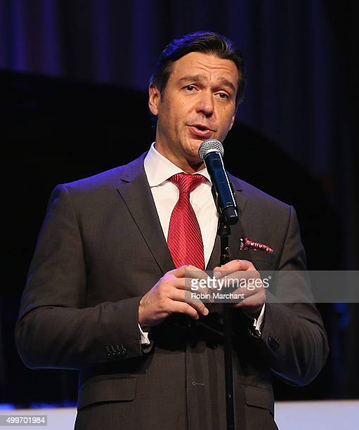 Nathan Gunn attends the Prostate Cancer Foundation Invites You To The 2015 New York Dinner With Celebrity Hosts Whoopi Goldberg John O'Hurley At The...