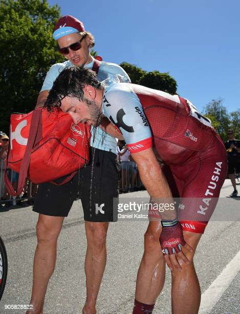 Nathan Haas of Australia and Team Katusha Alpecin looks on dejected during stage two of the 2018 Tour Down Under on January 17 2018 in Adelaide...